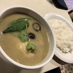 アジアン食堂 スーリヤ - グリーンカレー(1,058円)