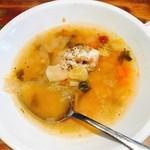 63631319 - ランチセットのスープ