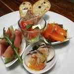 トラットリア・モキチ - 前菜5種盛り合わせ