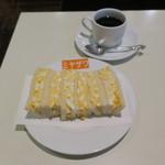 みやざわ - 玉子サンド&コーヒー1