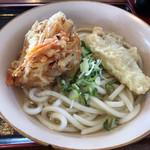 名波うどん - 冷やしうどん+野菜天+とり天