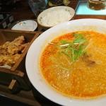 中国料理ふくふく - 担々麺からあげセット!840円