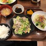 米どころん - 特盛り塩だれ肉野菜定食
