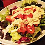 63649320 - 湯葉とトマトのサラダ