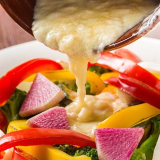 とろ~りラクレットチーズ♪7品目のグリル野菜にかけた1皿♪
