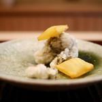 緒方 - 牡蠣の天ぷらと薩摩芋風船