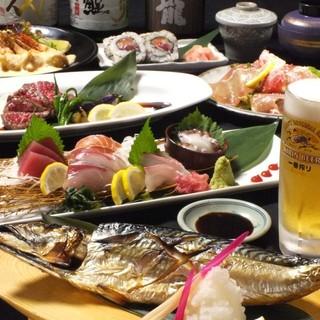 舞鶴で仕入れた新鮮な鮮魚