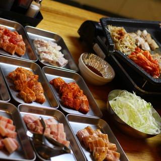 9種類味のサムギョプサル+包み野菜=1980円で食べ放題!
