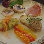 オステリア ラ フェニーチェ - 前菜の盛り合わせ