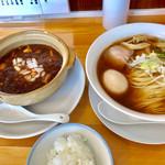 ゆうき屋 - 麻婆豆腐定食(味玉醤油らーめん)【料理】