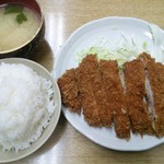 63660583 - とんかつ定食(¥500)