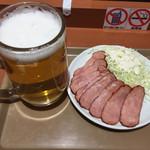 グッドタイムズ・カフェ - ビールセットB700円 スーパードライ樽生