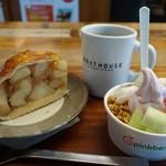 pinkberry - (2017/1月)フローズンヨーグルト、アップルパイ、コーヒー