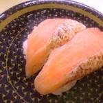 はま寿司 - 炙りサーモン