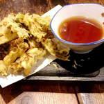 63666064 - 野沢菜の天ぷら