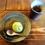 あのりふぐ料理 まるせい - 抹茶アイスクリーム