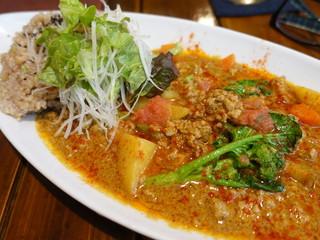 グレイト - 無農薬野菜のカレーライス ひき肉とっぴ