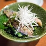 石臼挽きうどん しゅはり - 2017.3 〆さばゴマ和え(530円)