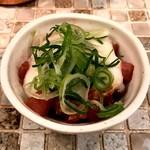 肉びすとろ 熟 - 生ハムユッケと長芋のすり流し