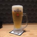 鴨と豚 とんぺら屋 - 生ビール