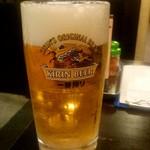 八起 - 生ビール(大):860円