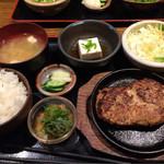 63671944 - 地頭鶏地鶏と豆腐ハンバーグ御膳❤︎