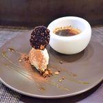 コントワール15 - マロンのクレームブリュレ、塩キャラメルアイスクリーム