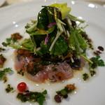 レストラン エクロール - 料理写真:長崎産真鯵の昆布〆カルパッチョ