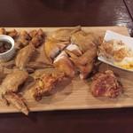 NARUTO KITCHEN - 鶏肉全種盛合せ+半身揚げ