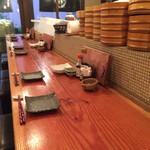 旬魚季菜 とと桜 - カウンターから