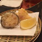 旬魚季菜 とと桜 - ふぐの白子とレンコンの天ぷら