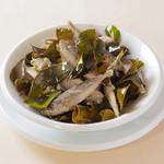 瀬戸内豆アジとコブみかん葉のフリット