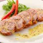 ステーキ&ビア ビストロ・パプリカ - 冷製チキンロール(特製マスタードソース)