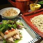 蕎麦食処 六根亭 - ランチセット一例