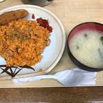 河金 - ポークライス&メンチカツ定食(500円)