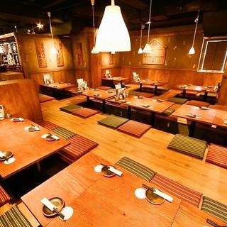 九州個室居酒屋 博多道場 - 掘りごたつのお座敷最大40名様収容可能