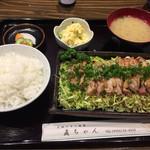 Naochan - 料理写真:日向鶏タタキ風定食