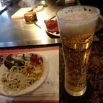 63695470 - 生ビールはオシャレなグラス