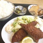 道風 - イワシフライ定食¥600大盛り¥50
