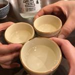 海鮮丼屋  海舟 - 何故か昼から冷酒で乾杯