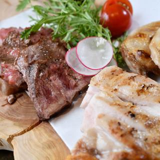 【肉】…猪・鹿・羊・鴨肉を使った『猟師料理』