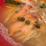 Japanese Soba Noodles 蔦 - 自家製スモークサーモン