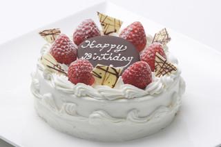 門洋菓子店 - オーダーメイドケーキ(写真はバースデーケーキ5号。デコレーションはご要望に合わせて承ります。)