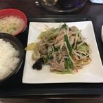 華陽麺坊 - 料理写真:豚肉野菜炒め税込850円