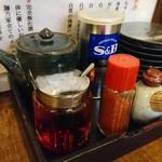 麺乃家 - 卓上調味量(*^^*)