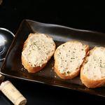 ステーション ウェイティング バル エスパーク - 料理写真:蟹味噌のクリームチーズバケット