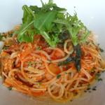 ブルーガーデン - 豚肉とエノキのトマトパスタ(本日のパスタB)