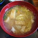 和亭 一 - 具だくさんの味噌汁