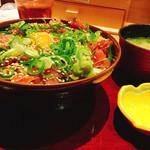 生け簀の甲羅 - まかない丼