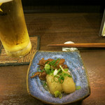 いっぽん - グラスビール(大)500円&お通し